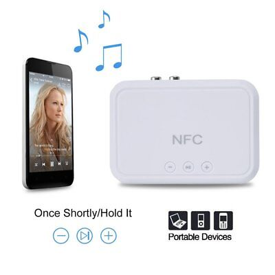 RCA 3.5mm Speaker NFC Wireless Bluetooth Stereo Audio Music Receiver White XC