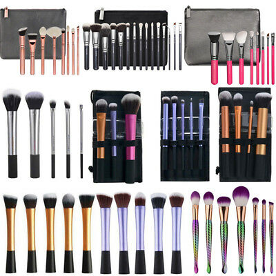 Real Techniques Makeup Cosmetic Brushes Sponge Powder Foundation  Lip Brush Tool