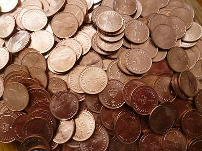 1971 Halfpence coins a bulk pack of 50 uncirculated halfpennies from Royal Mint