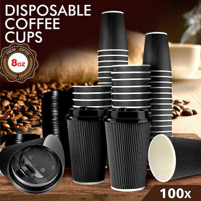 Disposable Coffee Cups 8oz Takeaway Paper Triple Wall Take Away Bulk