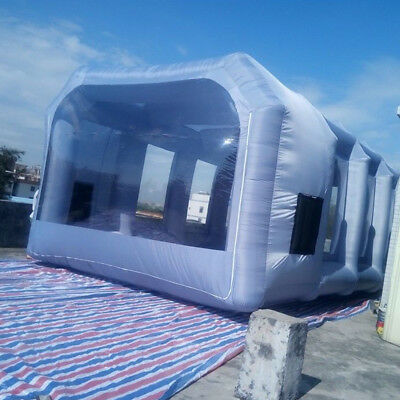 7m*4m*2.5m Portable Inflatable Tent Paint Car Spray Booth With 2 Air Blowers