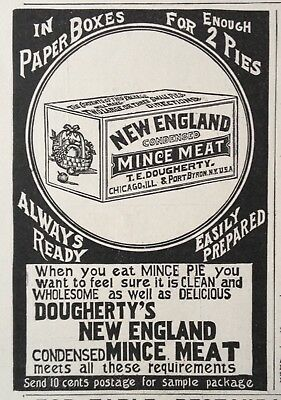 1893 Ad (1800-26)~Dougherty's New England Condensed Mince Meat. Port Byron, Ny