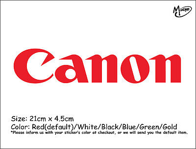 Canon LOGO Wall Stickers 21cm Reflective Decal Business Signs Best Gift