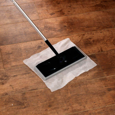 2 x Electrostatic Static Wooden Floor Duster Cleaning Mop & 20 Refills Wipes