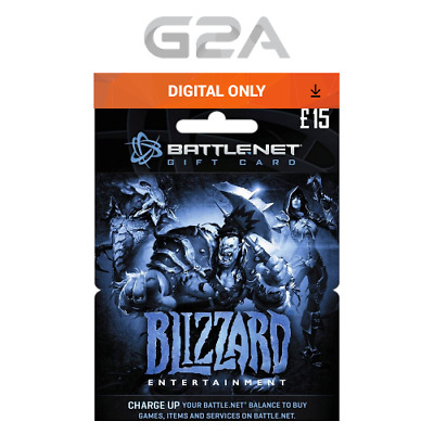 Battle.net £15 GBP Gift Card Key - Blizzard Battle Net 15£ / 15 Pounds Code [UK]