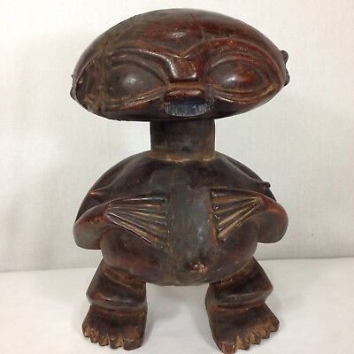 Vintage Carved Pygmee Statue Cameroon African Tribal Art 38cm High