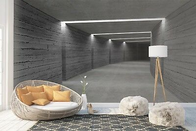 Wall Mural Photo Wallpaper Picture EASY-INSTALL Fleece 3D Hallway Lights Tunnel