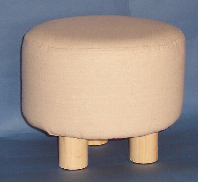 New small 3 legged Wooden Footstool Pouffe Stool Foot Rest with Padded Seat