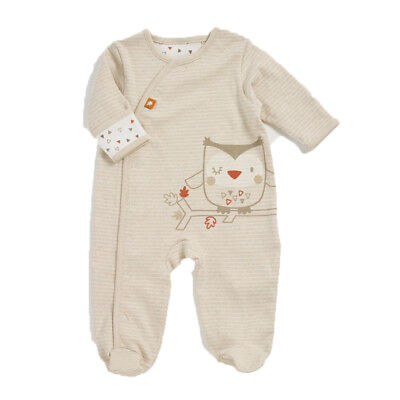 Natures Purest Woodland Friends Ollie Owl Sleepsuit - 0-3 Months  (0285A)