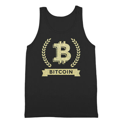 Bitcoin Cryptocurrency Coins Top  Gold  Mining Black Tank Top