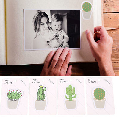 4 Pattern Succulent Cactus Paper Sticker Lovely Creative Cute Tags