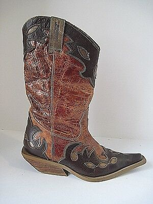 6f54f48b1049a WOMEN'S DESTROY COWGIRL Boots Made in Spain Euro Size 38, Cool Design!