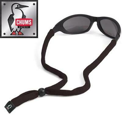 Chums Original Cotton Eyewear Retainer Sunglass Strap Original End, Black