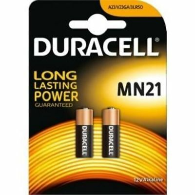 Duracell Alkaline Batteries 12V Twin Pack MN21/LRV08/A23/23A NEW
