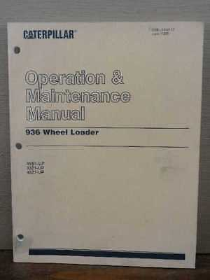 OEM CATERPILLAR CAT 936 Front End Wheel Loader Operation & Maintenance  Manual