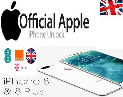 Factory Unlocking Service for IPhone 8 & 8 PLUS Orange & T-mobile EE BT