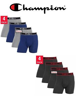 SALE! Champion Men's Boxer Briefs 4 Pack VARIETY Size and Color FREE SHIPPING