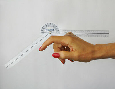 Baseline 180 Degree Clear Plastic Pocket Goniometer, 6.75 inches