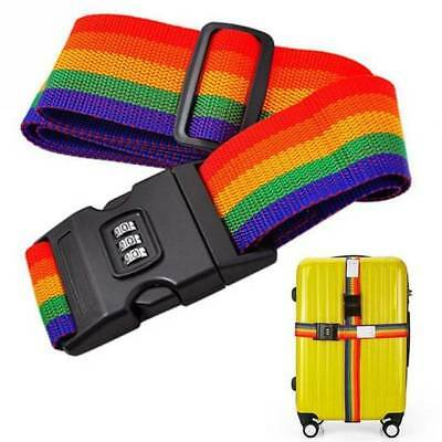 1PC Adjustable Baggage Suitcase Luggage Travel Strap with Coded Lock