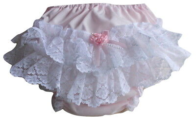 Baby Girls Frill Back Knickers Nappy Cover, Christenings  (18-24 Months) Ex Lge