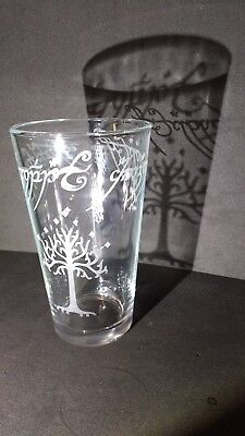 Tree of Gondor the one ring pub pint drinking glass lord of the rings lotr gift