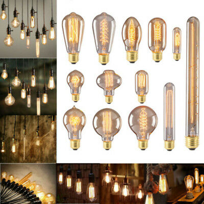 Antique Filament Led E27 Retro Vintage Pendant Bulb Light Edison Style 40w Lamp