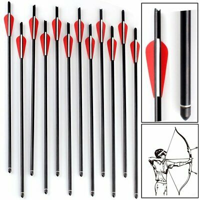 """12pcs Aluminum Arrow 20"""" Crossbow Bolts Tip for Hunting Target Practice Archery"""