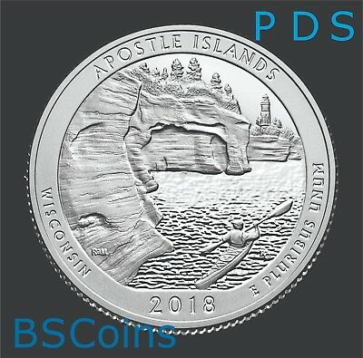 2018 PDS ATB Qtrs Apostle Islands, WI - BU THREE Coins - In Stock - Ship TODAY!!