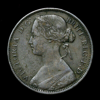 1862 Great Britain Penny KM# 749.2 VF