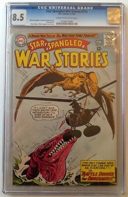 Star Spangled War Stories #115 Cgc 8.5 Vf+ Dc 1964 Cr/ow Pages Esposito Cover