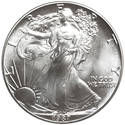 1987 $1 American Silver Eagle 1 oz Brilliant Uncirculated