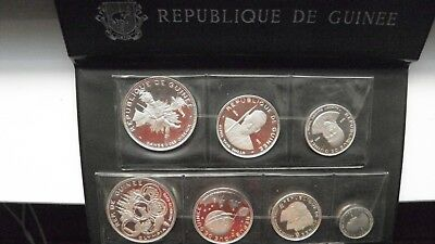 1969 Guinea Republic 7 Coin Silver Proof set in OGP