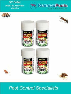 4 x 3.5g Bed Bug Bomb killer foggers Poison fumigators Bed Bug Control Mini IN
