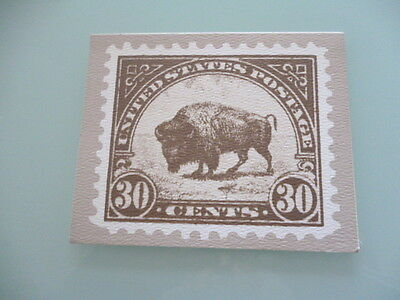 UNITED STATES  stamp reproduction card 30 cent  Buffalo stamp