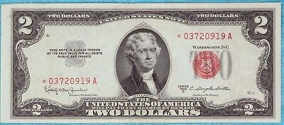 1953-C $2 Star Fr#1512* Two Dollar Bill Red Seal US Note Lot #8