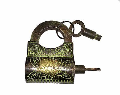 A Brass made 'Antique Finish' Solid 'BAG SHAPE' Screw System Handcrafted PADLOCK