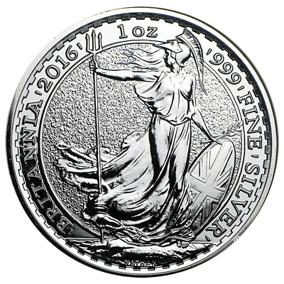 2016 U.K. 2 Pound Silver Britannia .999 1 oz Brilliant Uncirculated