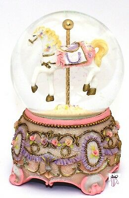 Large Water ball Globe Musical Carousel Christening Birthday Present Girl Baby