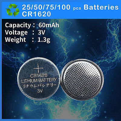 CR1620 Button Coin Lithium Battery 3V Batteries Remote Watch Coin Battery