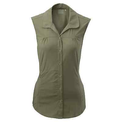 Kathmandu Jeema Womens Lightweight Button Top Sleeveless Hiking Shirt