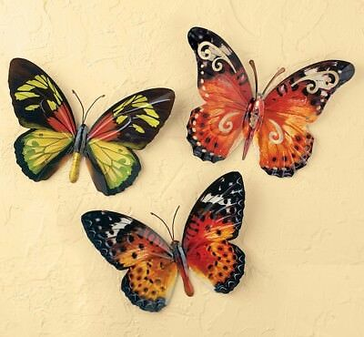 Enchanting Butterfly Metal Wall Decor Pictures - Wall Art Design ...