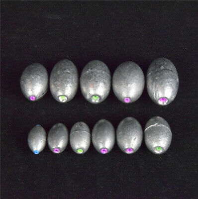 Green core containing Olive Shaped Weights Lead Sinker Fishing Sinker Tackle