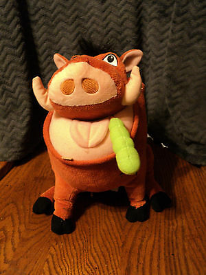 Disney The LIon King Pumbaa Talking Farting Plush with Batteries Works