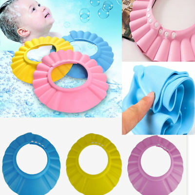 New Adjustable Baby Kids Shampoo Bath Bathing Shower Cap Hat Wash Hair Shield