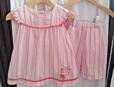 Marese ADORABLE Baby Girl Cotton Summer Tunic Top Bloomers Short Set 18 Months