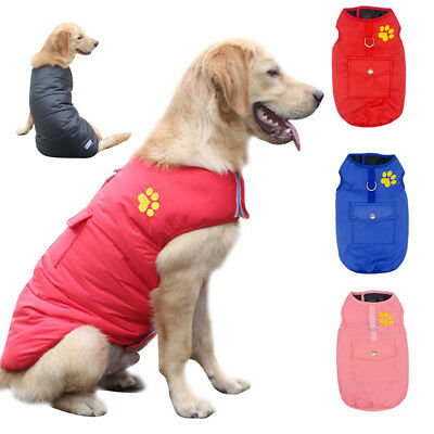 Waterproof Reversible Winter Dog Coats Warm Dog Clothes For Small Big Dogs