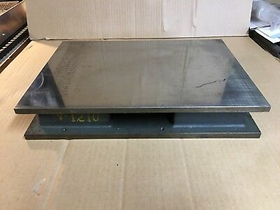 "Cast Iron Machinist Inspection Surface Plate 14""L x 10""W x 2.4""T"