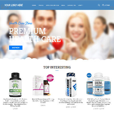 Health Care Affiliate Online Business Website For Sale! Mobile Friendly Added!