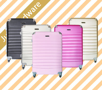 3 pcs Lightweight Lock ABS Travel Luggage Set Suitcase Hard Case Blue Pink Black
