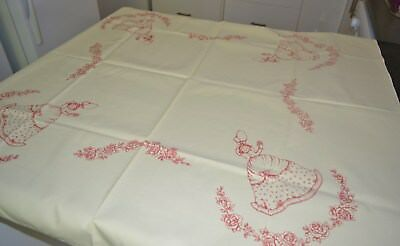 Vintage Hobbytex Crinoline Lady Supper/lunch Table Cloth With Instructions